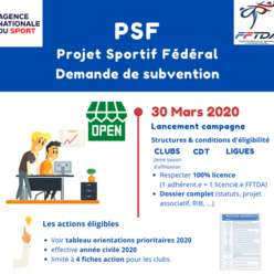 Subvention PSF 2020